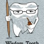 Aged tooth picture